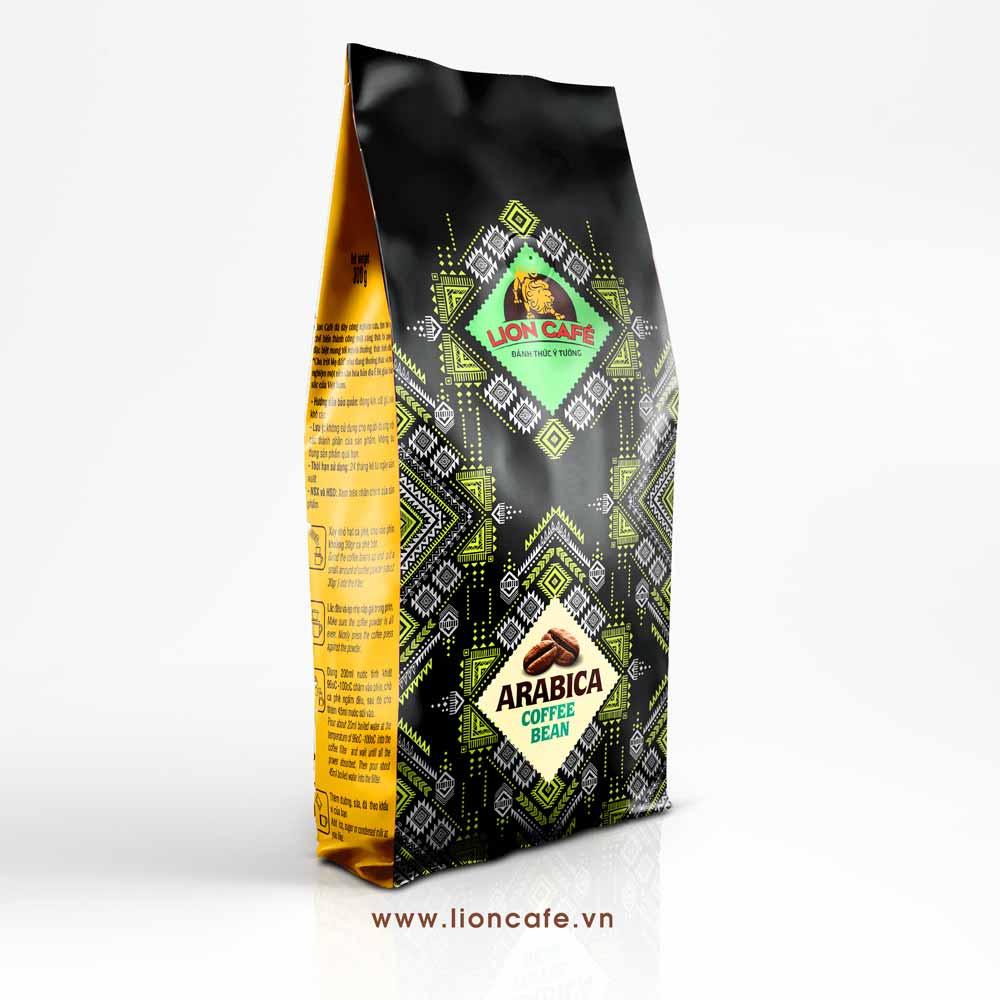 Túi hạt cafe Arabica Lion cafe