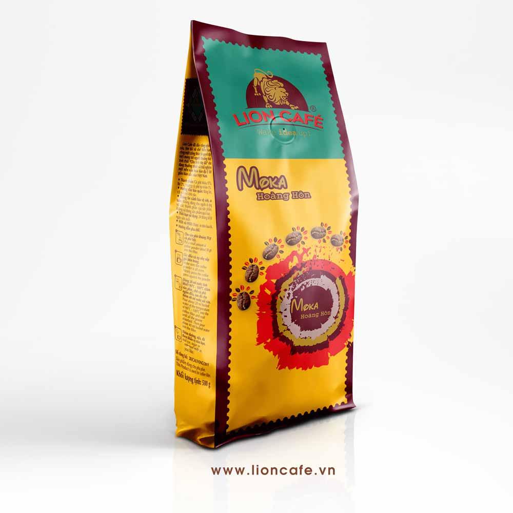 Cafe Rang Xay Lion Moka Hoàng Hôn