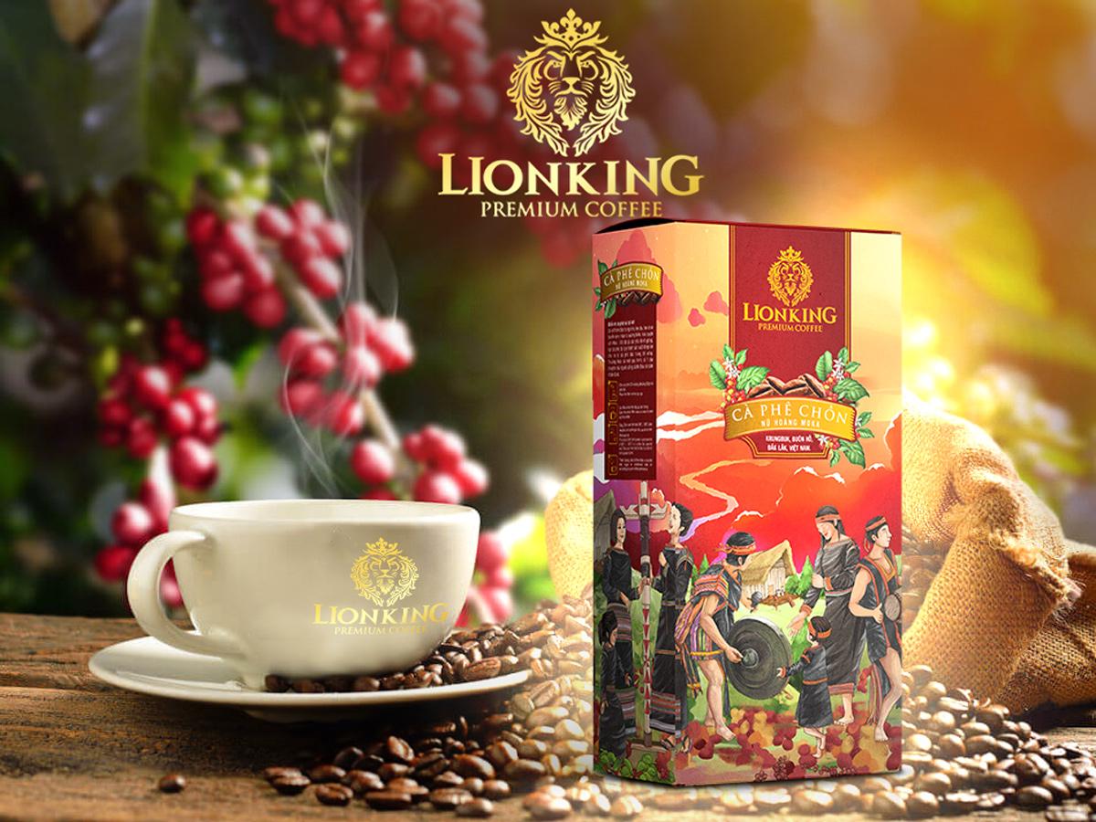 Cafe Rang Xay Lion King Chồn Nữ Hoàng Moka (KÈM HỘP QUÀ TẶNG)